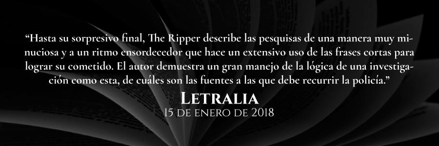 reseña-de-letralia-the-ripper-novela-policiaca